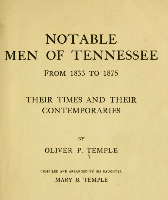 'Notable Men of Tennessee'